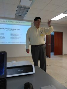 (Left photo) PMP's technical presentation (San Miguel de Allende - Mexico)