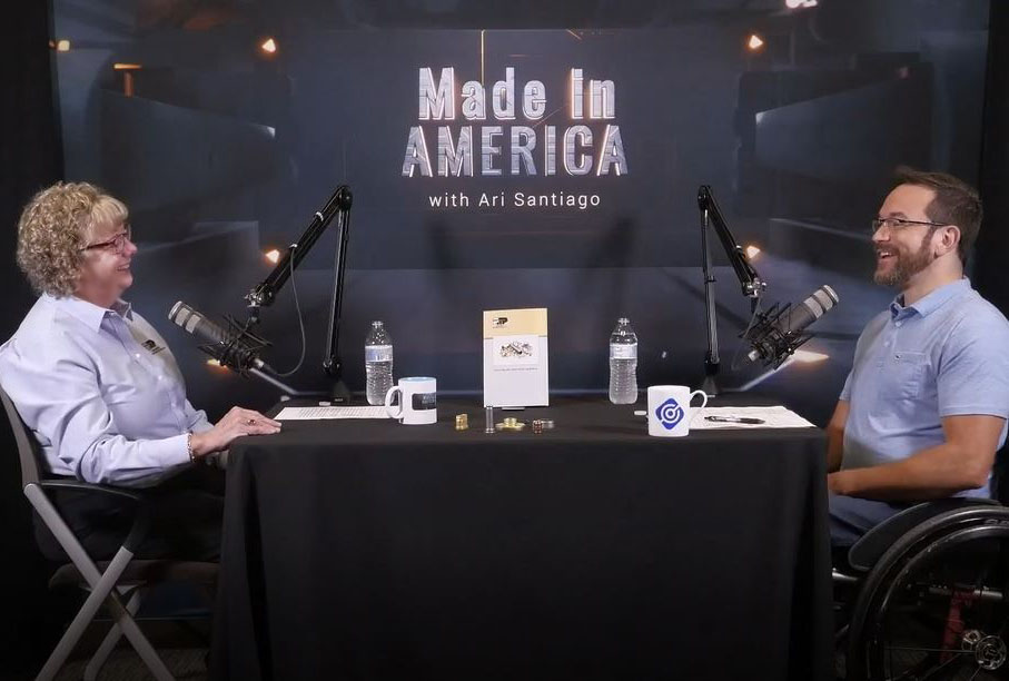 Karen McWhirt, President of Prospect Machine Products, a deep draw manuacturer chats with Ari Santiago in Made in America Podcast