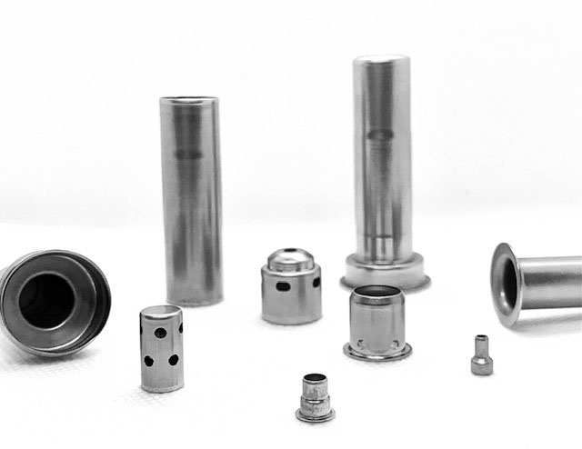 deep draw parts for pneumatic, automotive o2 sensors and security hardware applications